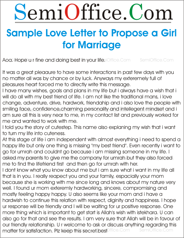 How to start a love letter to a girl
