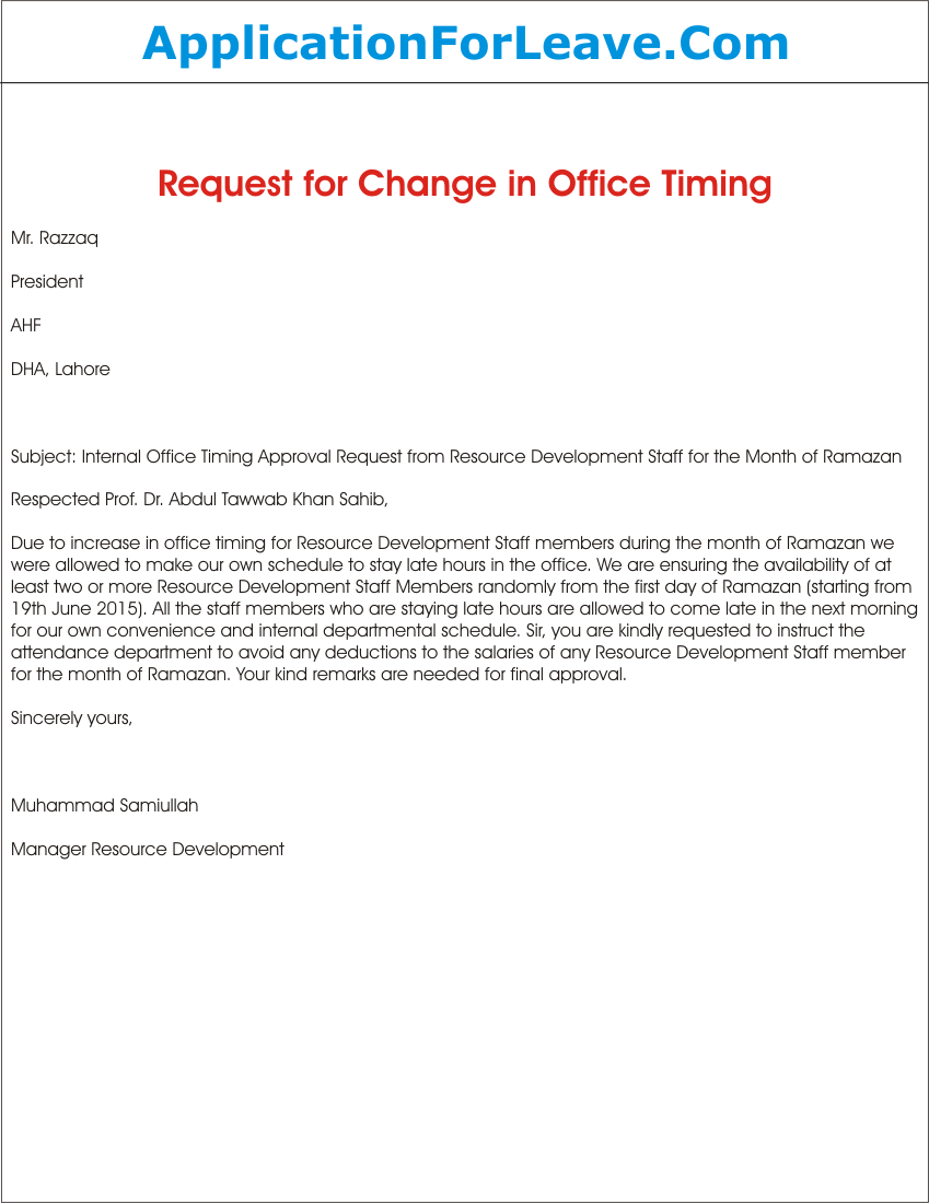 Request Letter For Approval Of Change In Internal Office Timing1 Png Ssl 1