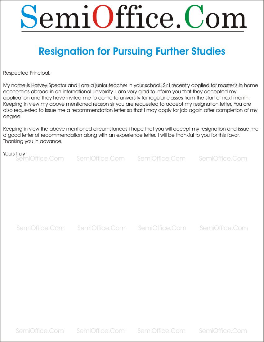 Resignationletterforfurtherstudiesgfit8511100ssl1 spiritdancerdesigns Gallery