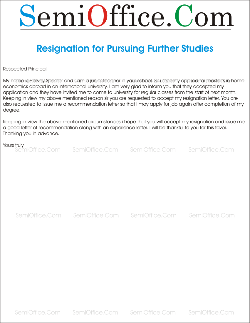 Resignationletterforfurtherstudiesgssl1 resignation letter for higher educationdegree expocarfo Images