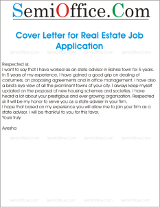 Sample Job Application for Real Estate or Property