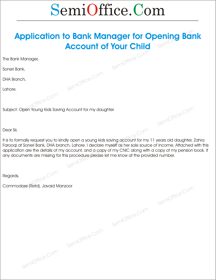 write a letter to bank manager for loan