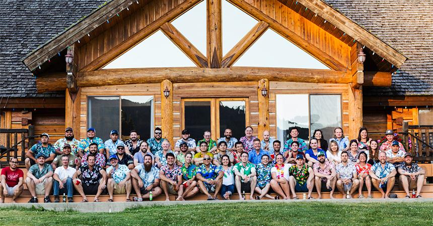 The Semios Team at our annual summer camp.
