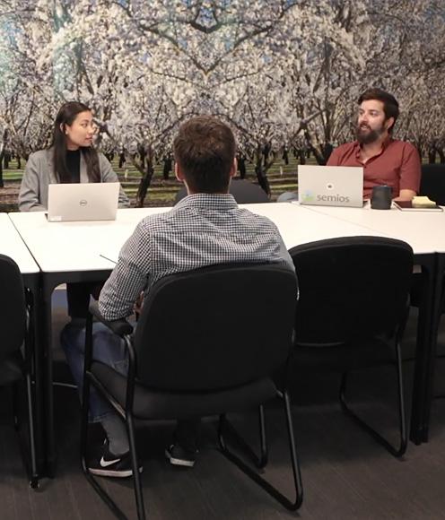 a team members meeting