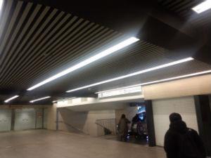 地下鉄への通路