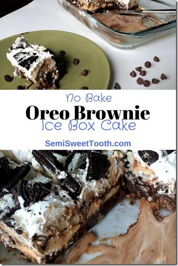 Oreo Brownie Ice Box Cake