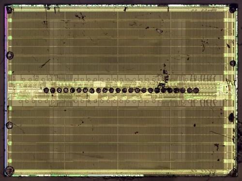 Die photo of the 1-megabit memory chip.