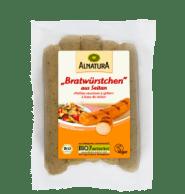 Bratwürstchen aus Seitan von Alnatura, vegane Alternativen