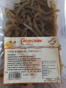 Tagliolini al tartufo con crema al parmigiano e pancetta