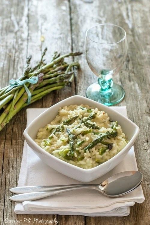 Risotto agli asparagi,ricetta Bimby