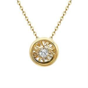 Colier diamant miscator_dancing diamond aur galben