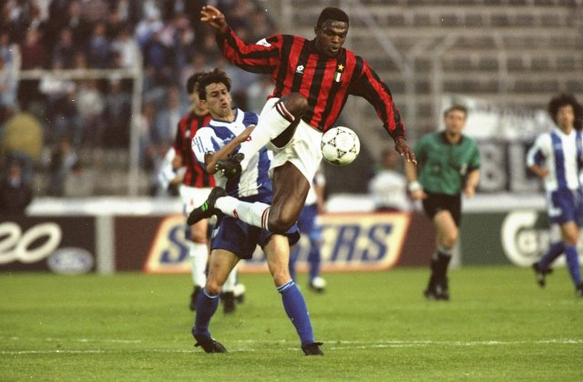 Marcel Desailly in a Champions League match against Porto. | Gary M Prior/Allsport