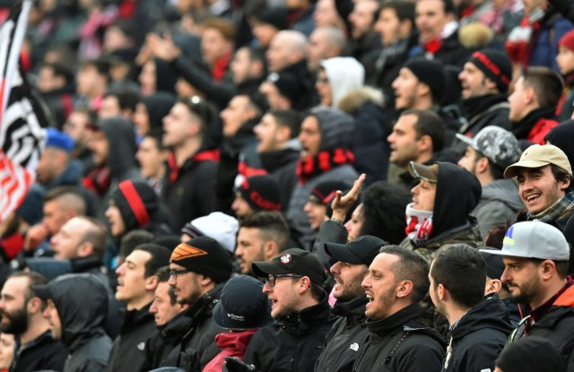Travelling Rossoneri sent home disappointed. | VINCENZO PINTO/AFP/Getty Images