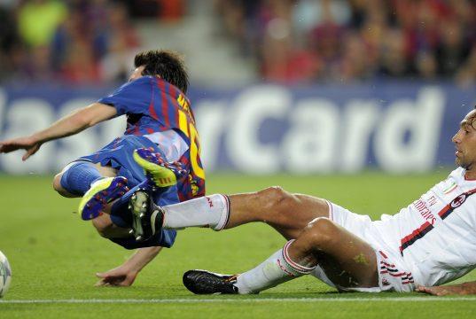 Alessandro Nesta Lionel Messi AC Milan Barcelona