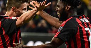 AC Milan's Ivorian midfielder Franck Kessie