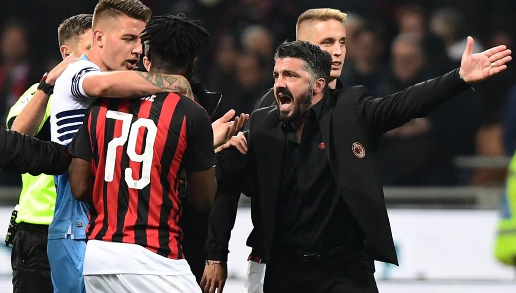 AC Milan's Italian coach Gennaro Gattuso