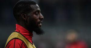 AC Milan's French midfielder Tiemoue Bakayoko