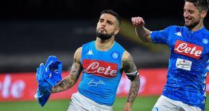 Napoli's Italian forward Lorenzo Insigne