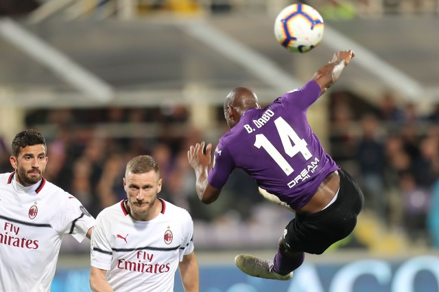 FLORENCE, ITALY - MAY 11: Bryan Dabo of ACF Fiorentina in action during the Serie A match between ACF Fiorentina and AC Milan at Stadio Artemio Franchi on May 11, 2019 in Florence, Italy.  (Photo by Gabriele Maltinti/Getty Images)