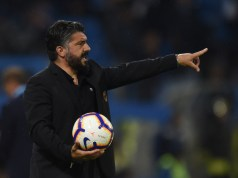 FERRARA, ITALY - MAY 26: Gennaro Gattuso head coach of AC Milan gestures during the Serie A match between Spal and AC Milan at Stadio Paolo Mazza on May 26, 2019 in Ferrara, Italy. (Photo by Tullio M. Puglia/Getty Images)