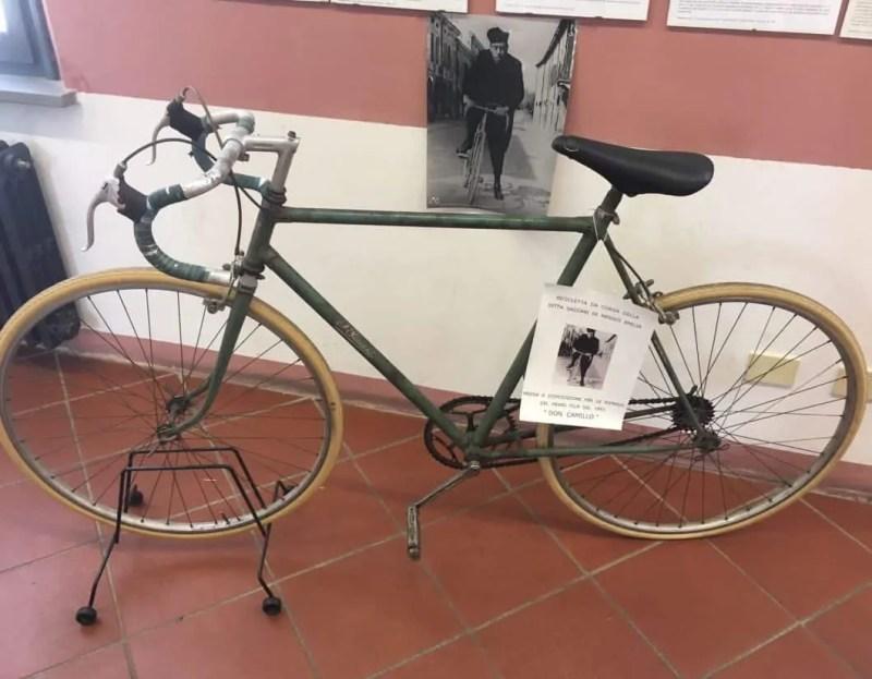 Bicicletta di Don Camillo nel Museo a Brescello