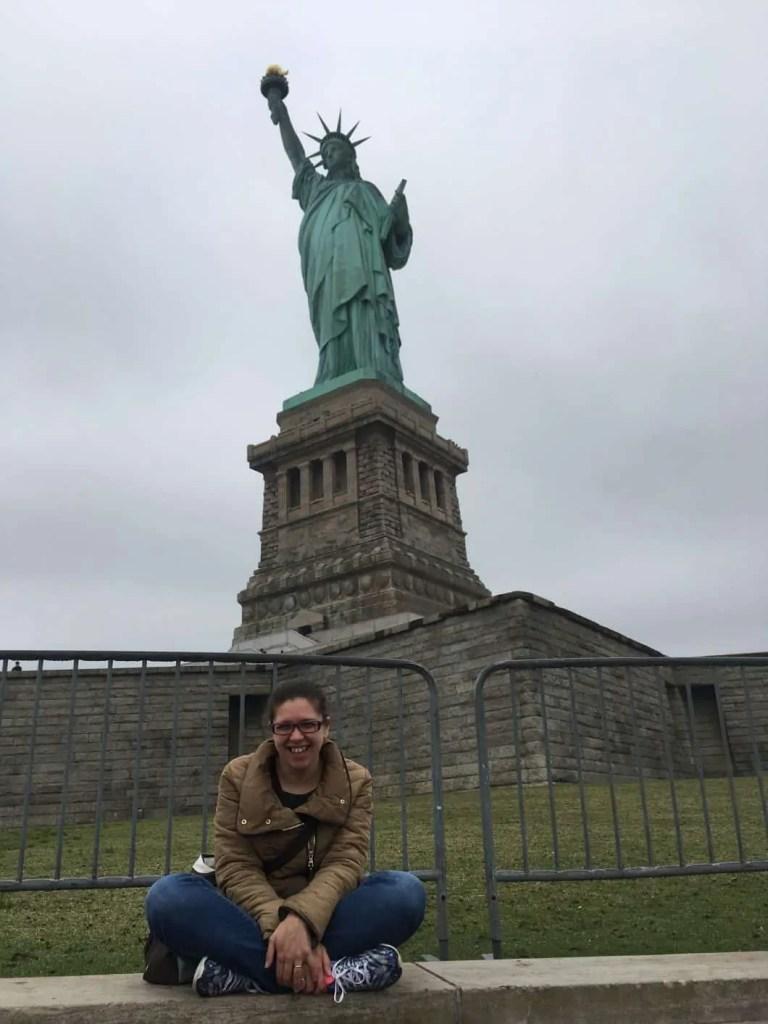 Statua della Libertà avvolta nella Nebbia