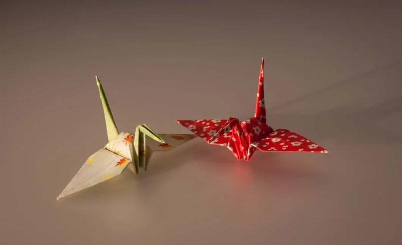 Gru giapponesi di origami