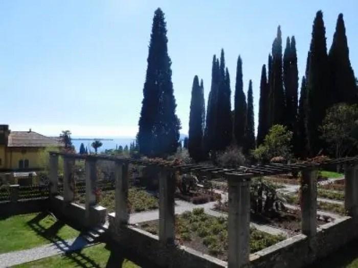 Uno spaccato dei giardini del Vittoriale