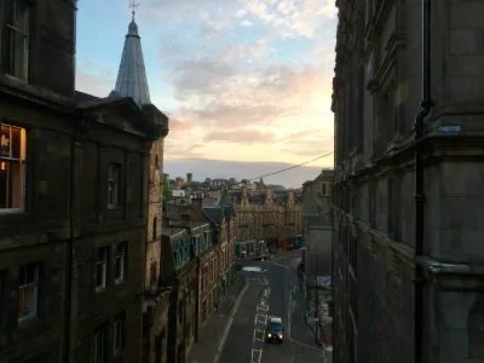 Edimburgo al tramonto!