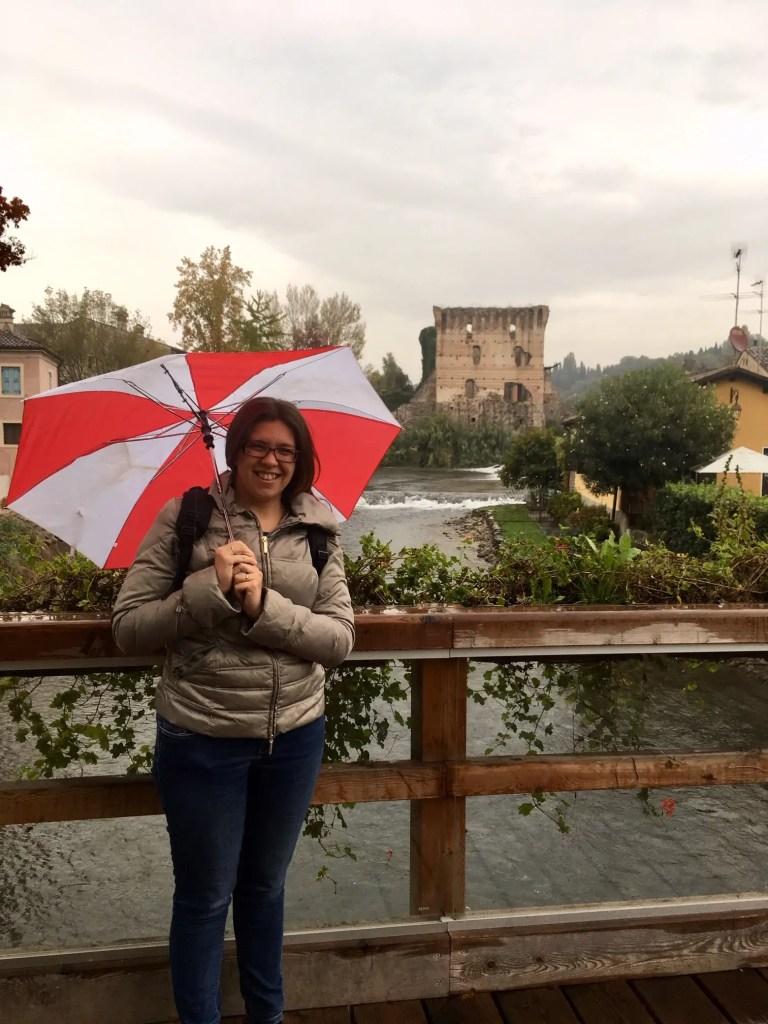 Sul ponte di Borghetto di Valeggio sul MIncio