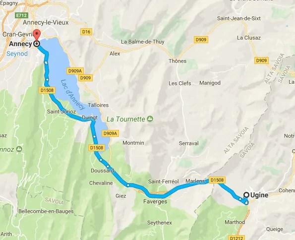 Pista ciclabile: il percorso da Annecy a Ugine