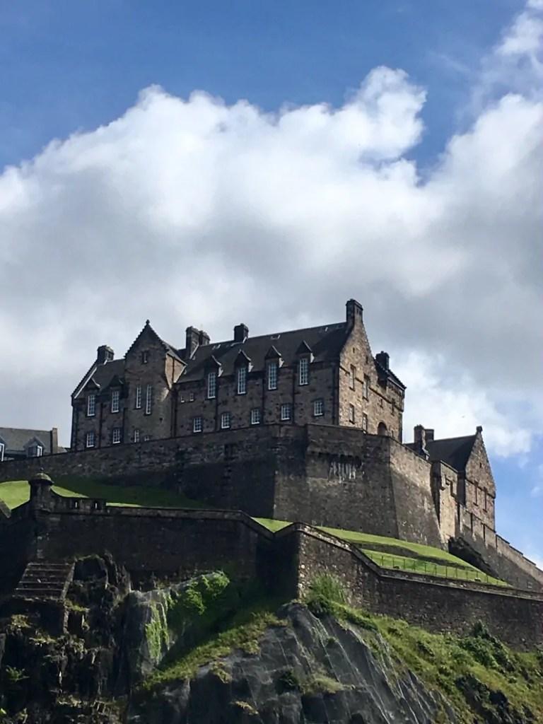 Castello di Edimburgo visto dall'alto