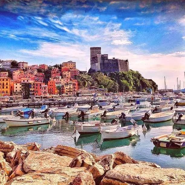 lerici il porto e il castello
