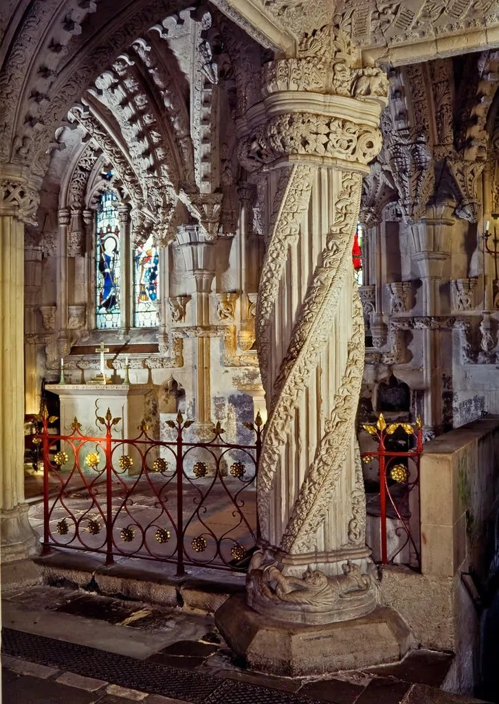 La colonna dell'apprendista a Rosslyn Chapel
