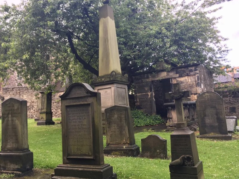 Il Canongate church e il Kirkyard il cimitero del royal mile