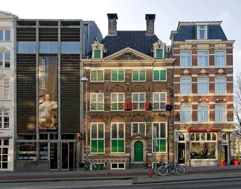 La casa museo di Rembrandt vista dall'esterno