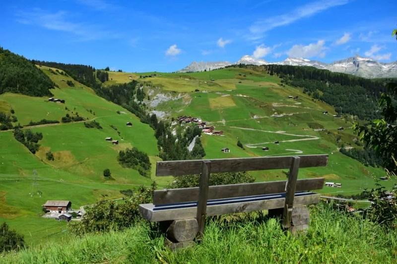 Panorama delle alpi svizzere