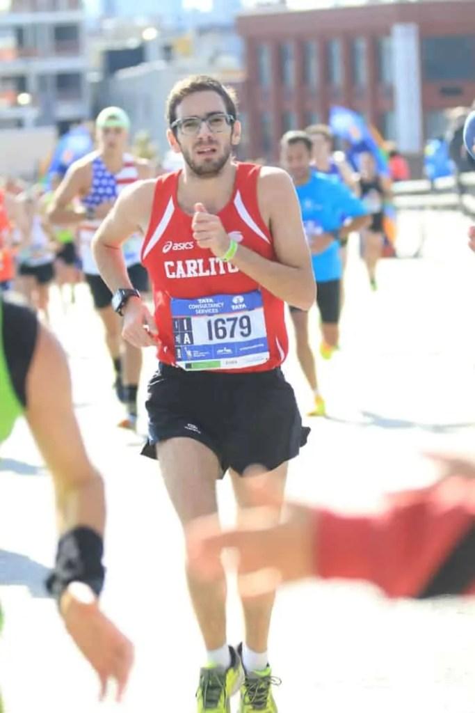 Carlo Masoero alla maratona di new york