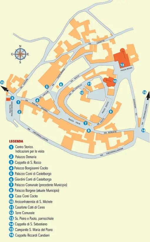 Mappa di Neive