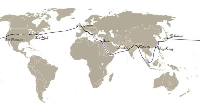Itinerario del Giro del mondo in 80 giorni