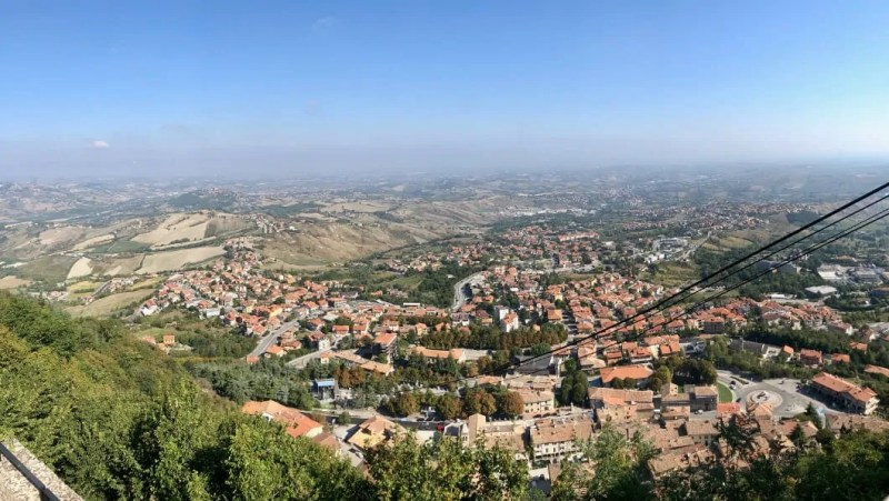 San Marino vista panoramica dall'alto