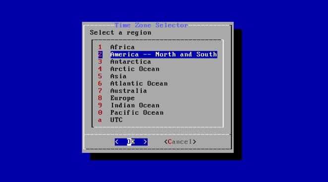 FreeBSD - configuração de fuso horário continente