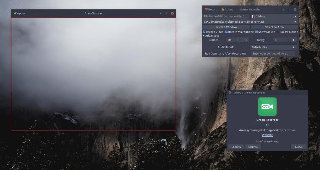 Como instalar Green Recorder no Ubuntu Debian Fedora Arch Linux em qualquer distro Linux
