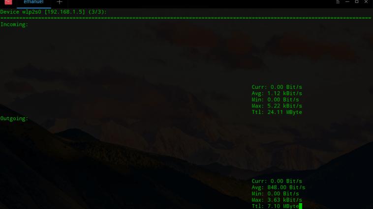 como monitorar tráfego de rede em tempo real nload linux