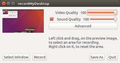 RecordMyDesktop