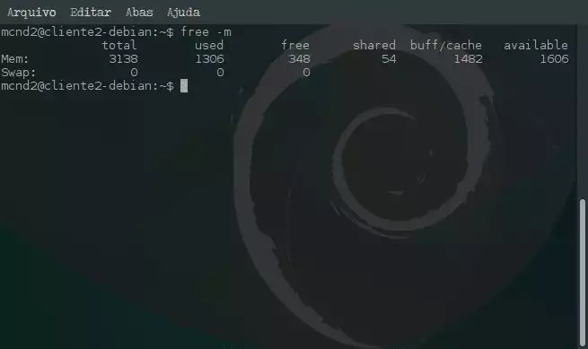 Criar arquivo de memória Swap e ativar no sistema - free -m