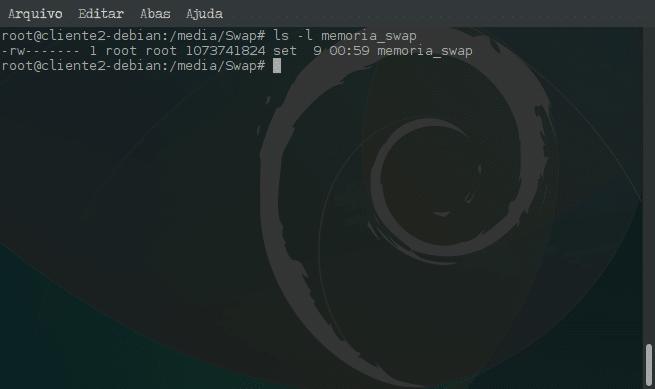 Criar arquivo de memória Swap e ativar no sistema - ls -l
