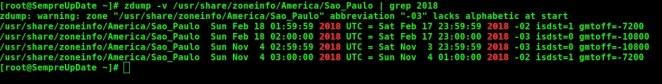 002 - Seu sistema Linux está preparado para o horário de verão 2018