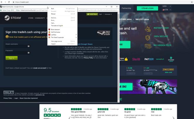 Hackers criaram site de phishing para roubar contas Steam