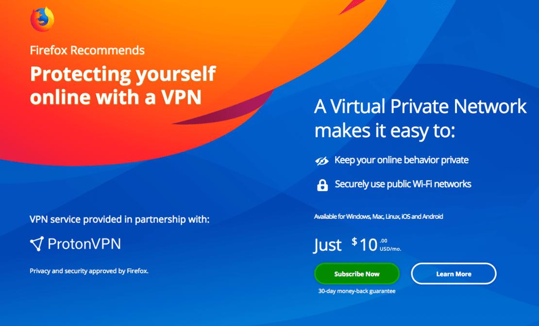 Mozilla estreita laços com navegador Tor e também vai fornecer VPN